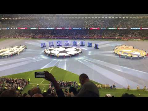 Final UEFA champions league 2017 Juventus vs Real Madrid - Anthem