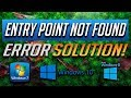 "How to Fix ""Entry Point Not Found"" Error in Windows 10/8/7 - [Tutorial 2019]"