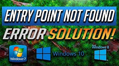 """How to Fix """"Entry Point Not Found"""" Error in Windows 10/8/7 - [Tutorial 2020"""