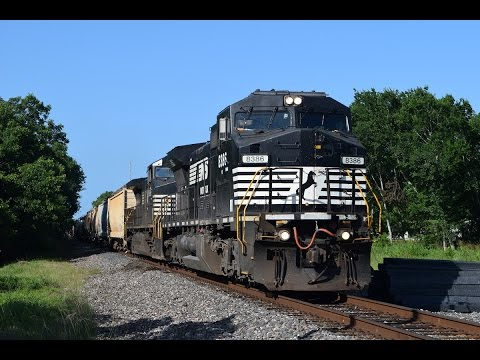 Railfanning UP Houston Sub 5/28/16 ft NS C40-8W w/ P5, KCSM business car, and more!