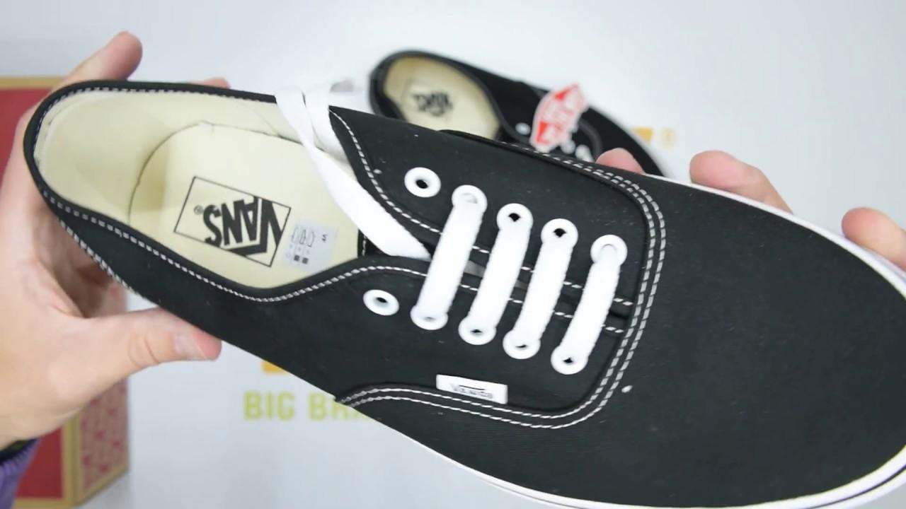 eb3f09be336627 Vans Authentic - Black White - Unboxing