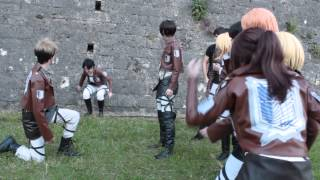 Repeat youtube video Shingeki no Kyojin Cosplay CRACK 2