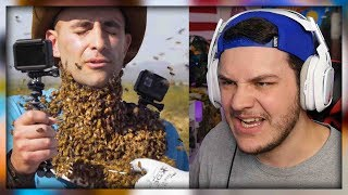3000 BEES ATTACK MY FACE! by Brave Wilderness - Reaction