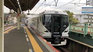 2019.10.17 JR東日本E257系2000番台NA-06編成J-TREC横浜出場 戸塚通過シーン