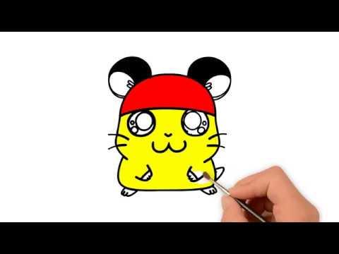 Vẽ chuột Hamster siêu đáng yêu | Draw Hamster Mouse For Kids