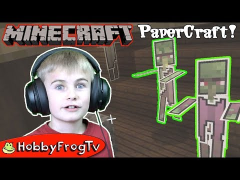 Minecraft Papercraft Mod Adventure By HobbyFrogTV