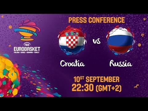 Croatia v Russia - Round of 16 - Press Conference - FIBA EuroBasket 2017