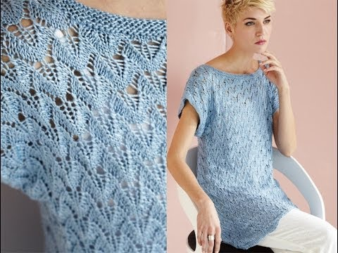 11 Wing Lace Tunic Vogue Knitting Spring Summer 2014