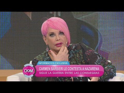 Nazarena Vélez dijo que Carmen Barbieri