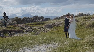 Alexandria & Peter's epic travels from Maryland, USA for their Scottish West Coast Crear Wedding!