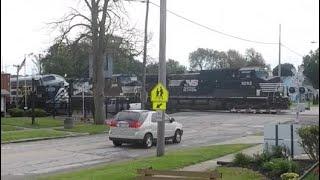 NS Grain Train at Train Museum in Bellevue, OH 10-6-19