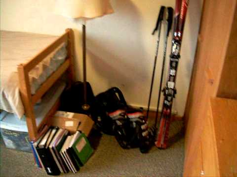 Cornell University Dorm tour- Typical Single Room at ...  Cornell Univers...