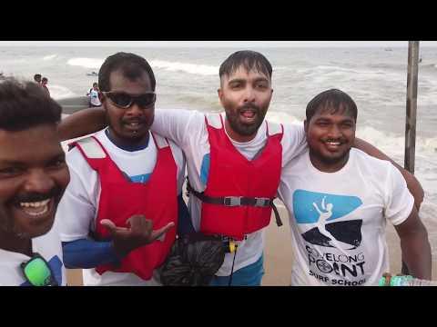 Besant nagar Elliot's to Marina Beach by Standup Paddle   Tamil Vlog