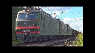 Товарный поезд на Северной железной дороге