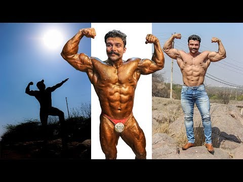 14 days TRANSFORMATION : bodybuilding competition   AMIT PANGHAL