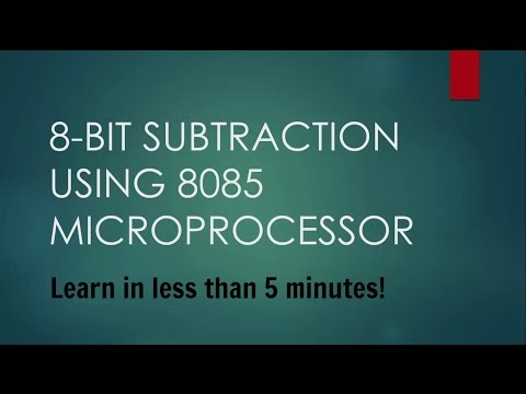 8 bit subtraction program in Microprocessor 8085