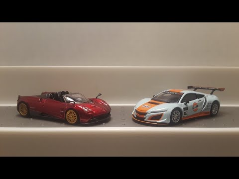 Brand new MINI GT Acura NSX and Pagani Huayra Roadster diecast 1/64 cars