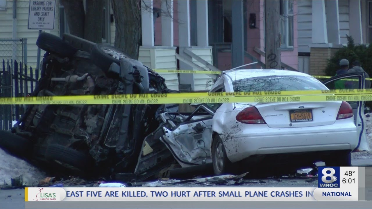 Police investigating a fatal car crash on Hudson Avenue/ Norton Street area