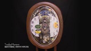 RHYTHM Joyful Blessing Clock - 4MH414WU06(リズムスモールワールドアルディからくり時計) アルディ 検索動画 5