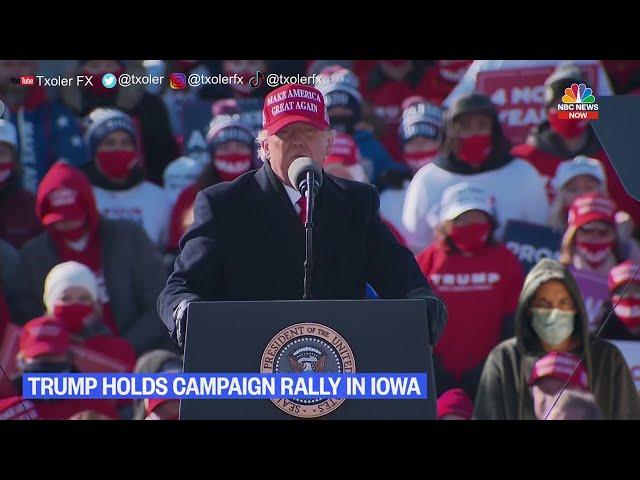 I crashed Trump's rally. Me colé en el mitin de Trump.