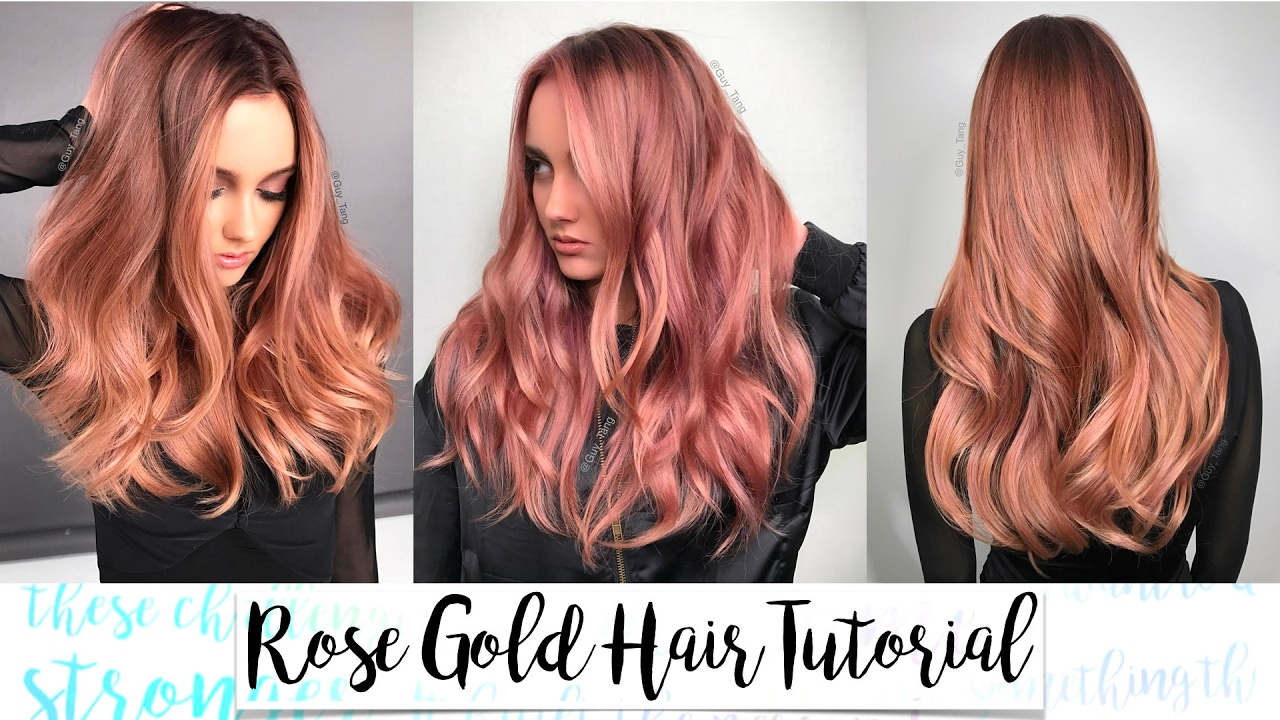Rose Gold Hair Tutorial Youtube