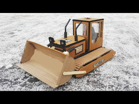 D I Y RC Controlled Bulldozer / RC Controlled J C B  With Cardboard