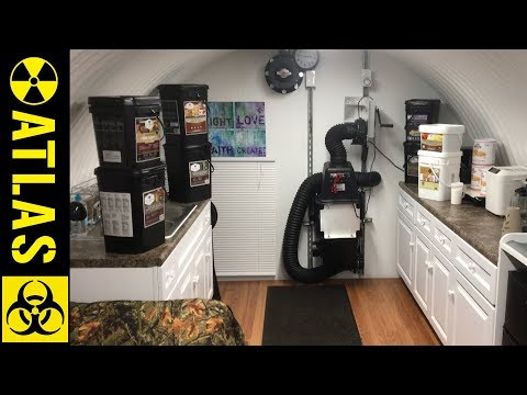 Lady's ATLAS Bunker In New Mexico With $7,000 of Survival Food