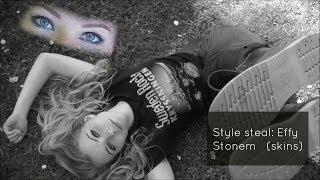Effy Stonem makeup & outfit+ DIY distressed jeans Thumbnail