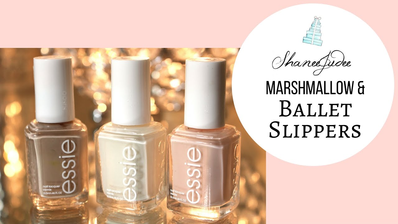 Nails | Marshmallow & Ballet Slippers | ShaneeJudee - YouTube