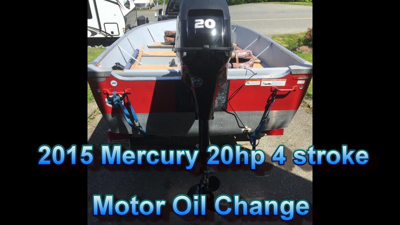 Mercury 4 stroke 20hp oil change