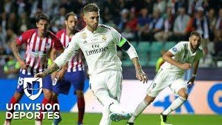 TIEMPO REGULAR: Real Madrid 2-2 Atlético de Madrid - Súper Copa de la UEFA