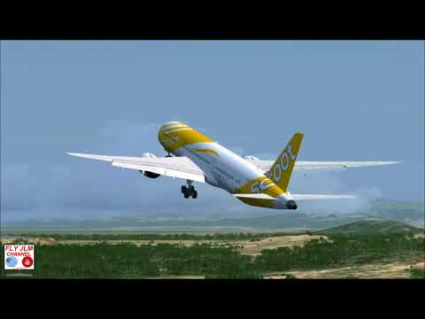 FSX Full flight from Port Moresby to Darwin with Boeing 787 Dreamliner Scoot Airlines