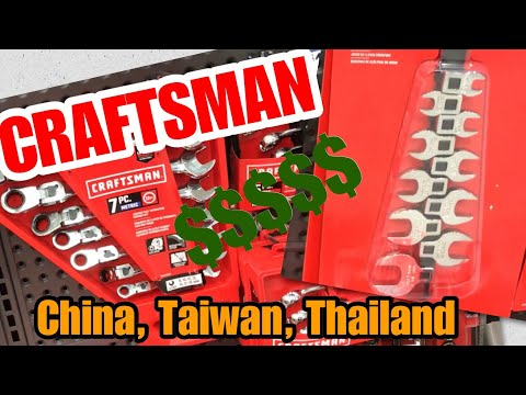 New Craftsman Hand Tools at Lowe's where were they made and where did all the USA go Priced too High