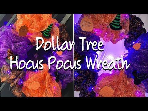 Dollar Tree | Hocus Pocus Wreath | $10 | DIY | Light Up