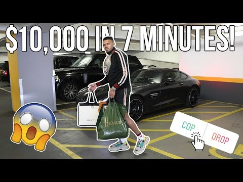 SPENDING $10,000 IN 7 MINUTES AT HARRODS!!! (INSANE)