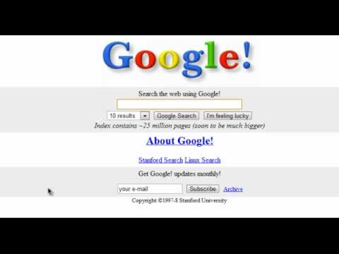 The old google site 1998 99 youtube Video websites