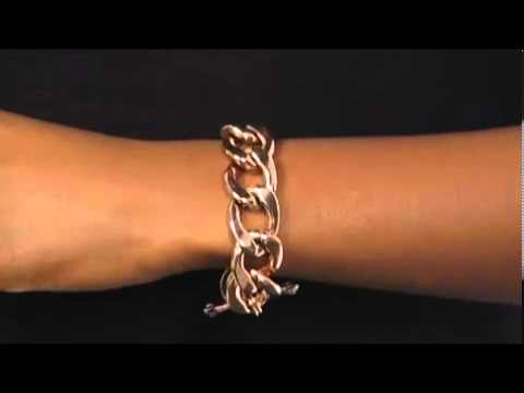 Juicy Couture Rose Gold Collection Chunky Link Bracelet SKU