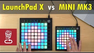 Review: LaunchPad X vs MINI MK3 // Custom layout tutorial // Novation LaunchPad