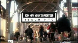 """NYC Department of Education - """"Teach NYC"""" commercial"""