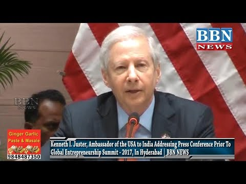Kenneth I. Juster, Ambassador of the USA to India Addressing Press Conference Prior To Global