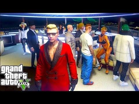 WORLDS BIGGEST YACHT PARTY! GTA 5 DLC Executives & Other Criminals