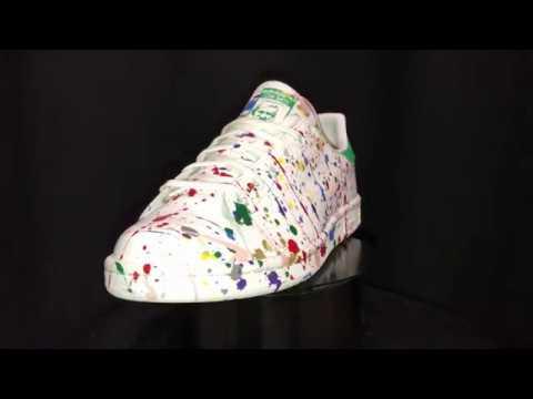 0d570c00301 Handmade Custom Adidas Stan Smith Painting Colour by Mark Leone ...