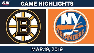 NHL Game Highlights | Bruins vs. Islanders - March 19, 2019
