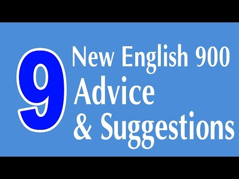 Learning English Speaking Course - New English Lesson 9 - Advice and Suggestions