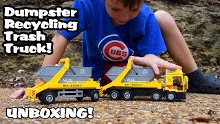 Garbage Truck Videos For Children l DUMPSTER RECYCLING Trash Truck - UNBOXING l Garbage Trucks Rule