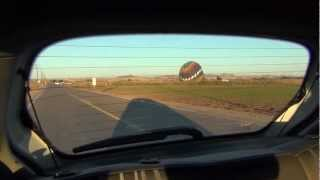 Hot Air Balloon Launch, Fertile California Fields of Imperial County on Fort Yuma & Bard, CA