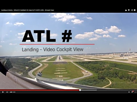 Landing at Atlanta - William B Hartsfield Int