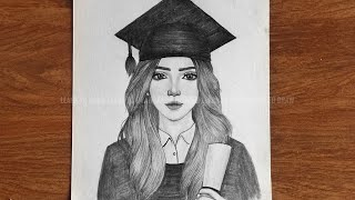 How to draw cute girl student    girl sketch    drawing step by step for beginner    រៀនគូរ