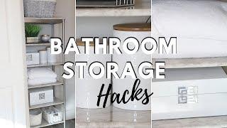 Bathroom Organization Hacks and Storage Solution Ideas!