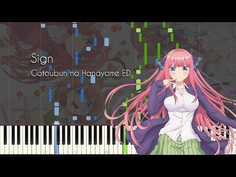 Sign - Gotoubun no Hanayome ED - Piano Arrangement [Synthesia]